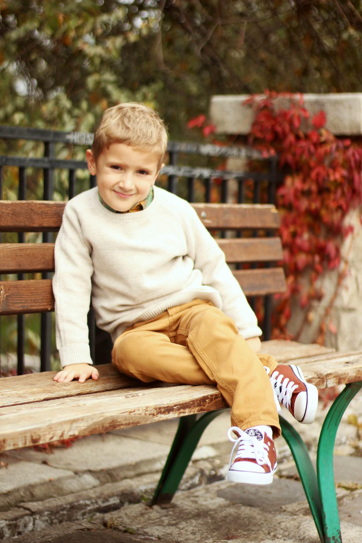Детска фотосесия - Димитър се усмихва