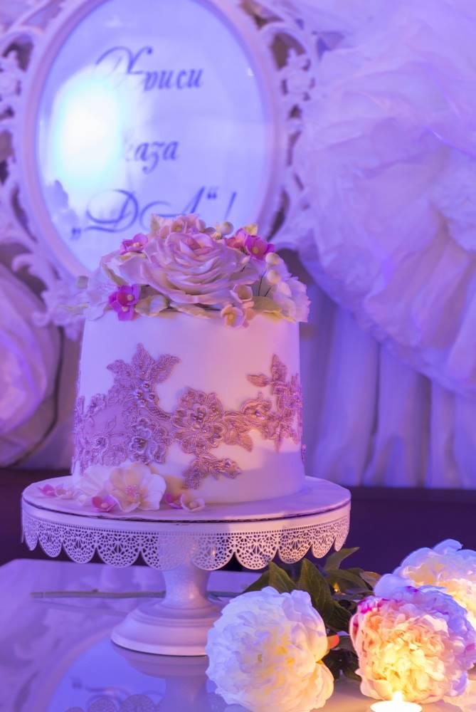 Професионална снимка на бутикова торта