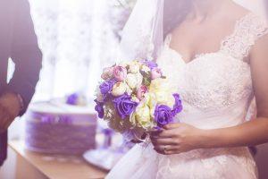 Фотография на сватбения букет на Мария